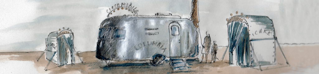 Dessin de la caravane de la Circo Mobile